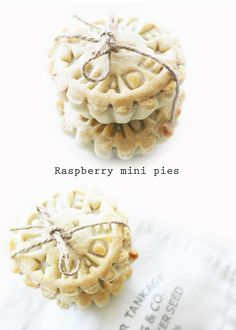 raspberry mini pies