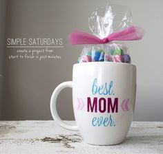 Silhouette Blog: Simple Saturdays :: Mother's Day Mug