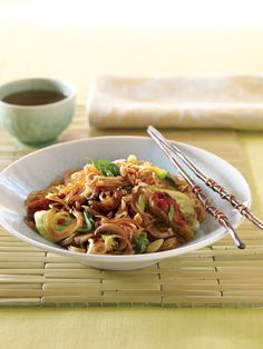 Vegetarian and Vegan Chile-Lime Glass Noodles | Vegetarian Times