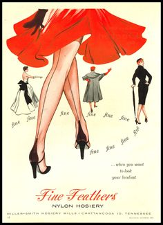 vintage posters, fashion, hosiery, little black dresses, feathers, vintage ads, nylons, vintag ad, fine feather