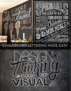 Lettering Tutorials - for chalkboards