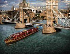 Royal Barge by Tower Bridge