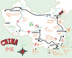 Great map of Chinese culinary adventures on FeedingtheDragon.com