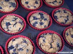 BLUEBERRY MUFFINS- Vegan, Gluten-Free, Refined Sugar-Free & Oil-Free