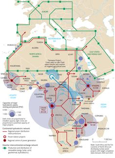 Electricity transfer and hydropower in Africa, from maphugger