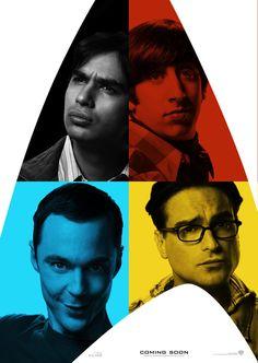 The Big Bang Theory - Raj, Howard, Sheldon and Leonard