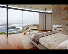 An ideal morning view. :)  Dream master bedroom.