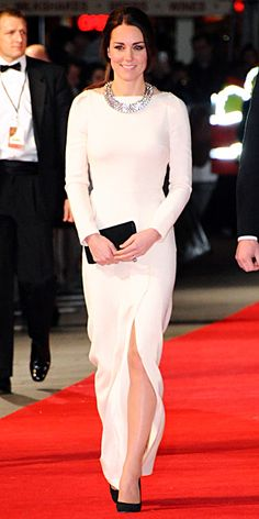 Look of the Day - December 6, 2013 - Kate Middleton in Roland Mouret #InStyle