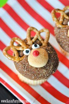 Adorable Reindeer Cupcakes!