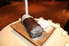 Groom's Cake shaped as a Cigar - yes the matches were edible!  It was his birthday :)