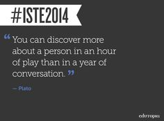 Great quote from  #ISTE2014