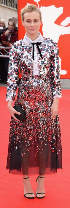 Really feeling this star-spangled Chanel on Diane Kruger!