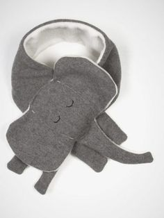 Kid's Elephant Scarf by Yohi & Olivia: made of 50% wool, 50% polyester. #Scarf #Elephant_Scarf #Kids Yohi_&_Olivia