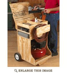 Compressed Air Work Station Woodworking Plan