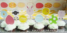 Easter Paper Tots {free download} from kiki & company