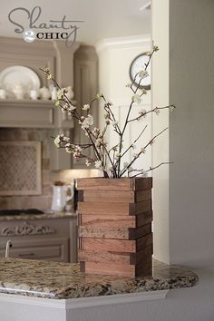 DIY Wood Scrap Vase
