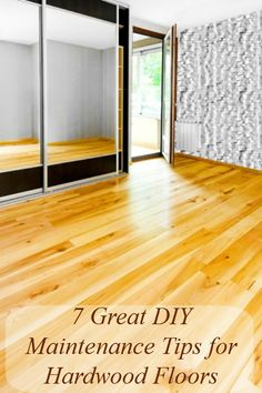 7 Great DIY Maintenance Tips for Hardwood Floors. Hardwood floors are beautiful. I mean, don't you just love the shine? Of course, they don't always shine. They can get pretty dull if you are not keeping them up just right and cleaning and polishing them, learn how to keep them clean and beautiful.