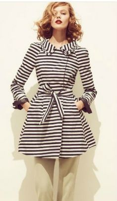 hair colors, fashion shoes, girl shoe, stripe coat, girl fashion, fall coats, retro fashion, retro clothing, new hairstyles