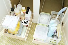 IHeart Organizing: Monthly Organizing Challenge: Organizing Under the Bathroom Sink