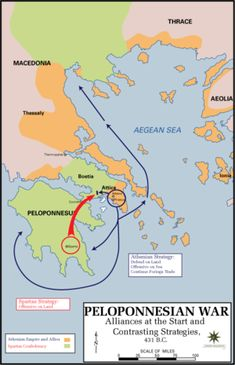 Peloponnesian War: and how it shaped the Ancient Greek world. Especially regarding disputes about property (between Sparta and Athens).
