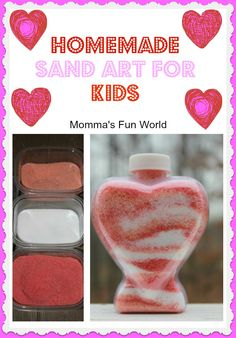 Make your own homemade sand for a fun sand art project with the kids. Very inexpensive!!