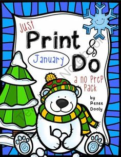 Printables January Print and Do Math and Literacy pack from Fantastic Froggies on TeachersNotebook.com -  (30 pages)  - Printables January Print and Do Math and Literacy pack