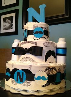 Any Colors Custom Personalized 65 DIAPER CAKE by DiapersAndDoodads, $65.00
