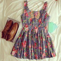 floral prints, summer looks, oxford shoes, fashion outfits, dress fashion, dress outfits, dress shoes, inspiring pictures, floral dresses