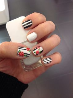 Nail inspiration: SEPHORA ROSES by TysonsCorner. Upload your own look on #TheBeautyBoard for the chance to be featured here! #Sephora #nailspotting #nails #nailpolish