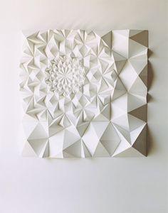 Paper sculpture by Matt Shlian