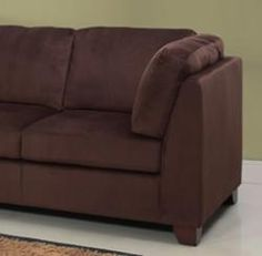 Micro fiber ultra suede on pinterest sectional sofas for Abbyson living delano sectional sofa and storage ottoman set