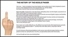 Quick List of the Middle Finger History - Funny Stuff - Welcome to I Love to Laugh