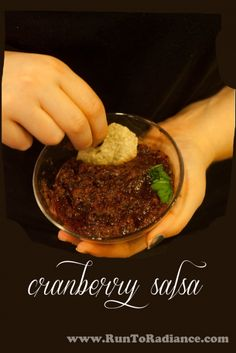 Sweet cranberry with spicy jalapenos make this cranberry salsa an instant hit with all your family and friends. Quick easy and gluten free/ vegan. And it's festive looking too!