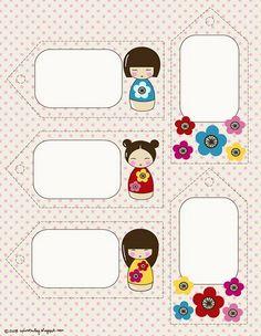 kokeshi printable tags