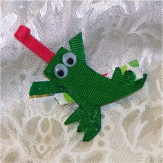 Think spring! Froggie hair clip.