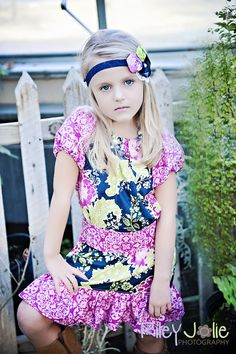 Create Kids Couture : slim peasant dress