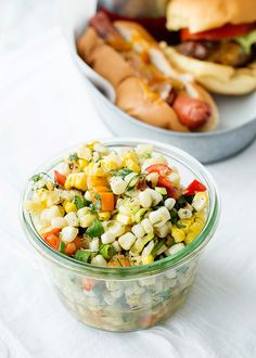 grilled corn salad with fresh herbs recipe