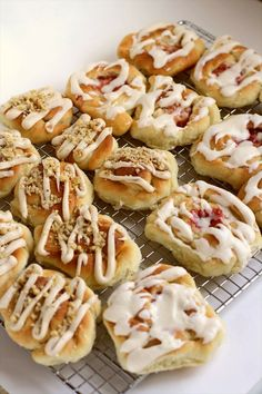 Butterhorn Danishes - Strawberry Cream Cheese & Maple Walnut. #food #Danishes #breakfast #dessert