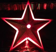 Primitive Frosted Christmas Tree Star Topper, Metal, Tin, Rustic, Red & White, Country, North Star Tree Topper, Christmas Tree Decoration on Etsy, $135.00