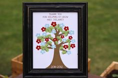 Personalized Teacher Tree. Gift For End Of The Year - 8x10 Print. $12.00, via Etsy.