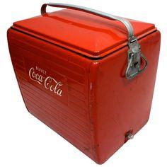 Vintage Coca Cola Cooler French