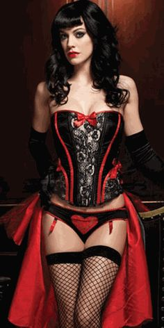 sexy lingerie, corset rocks! D'oh! I just need the red cape and I'm ready to roll!
