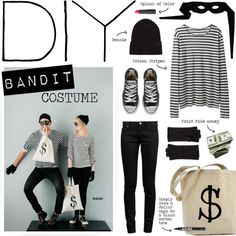 """""""DIY Halloween Costume - put together with everyday clothes"""" by bellamarie on Polyvore"""