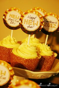 New Year's Eve Cupcake Toppers #printable