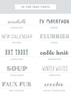 free fonts collectio