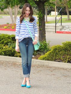 boyfriend jeans & stripes