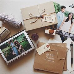 Brett & Jessica // wedding photography packaging