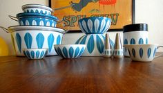 {light blue Cathrineholm / lyngby lotus collection}  by glaede