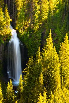 Martha Falls at Sunset, Mt. Rainier Nationial Park, Washington