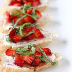 strawberry, basil, and garlic cream cheese combination perfect for small bites  wedding food